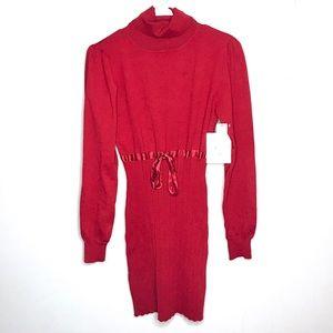 NWT Derek Heart Long Sleeve Red Dress
